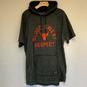 Under Armor x Project Rock Short Sleeved Hoodie